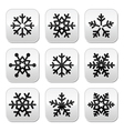 Snowflake winter buttons set vector image vector image
