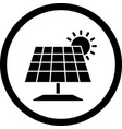 solar panel icon vector image vector image