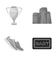 sport cinema and other monochrome icon in cartoon vector image vector image