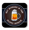 Square Beverage Coaster Color vector image