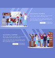 successful business company vector image vector image