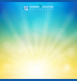 summer season sunlight with bokeh in sky vector image vector image