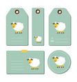 tags with sheep vector image vector image