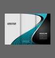 tri-fold brochure design template with abst vector image vector image