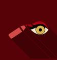 type of eye makeup cat eyeliner tutorial stylish vector image vector image