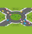 urban area with an intersection vector image vector image