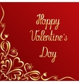 Valentines day ornate lettering background vector image vector image