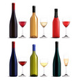 wine and glass realistic set vector image