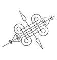 wrought-iron bracket mantels vintage engraving vector image vector image