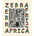 Zebra Africa background vector image vector image