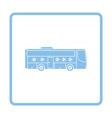 Football fan bus icon vector image