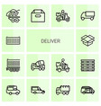 14 deliver icons vector image vector image
