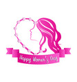 abstract beauty girl avatar happy women day vector image