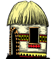African hut vector image