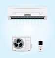 air conditioner hanging on wall vector image vector image