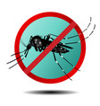 anti mosquito sign flat icon vector image vector image