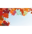 Autumn colorful background EPS 8 vector image vector image