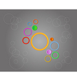 background with cirles vector image vector image