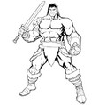 barbarian on white vector image vector image
