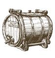 barrel wine logo design template beer vector image