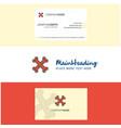 beautiful bones logo and business card vertical vector image vector image