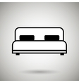 bed isolated design vector image