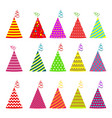 birthday hat set vector image vector image