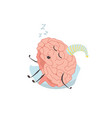 brain characters sleeps resting exercises and vector image vector image