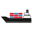 cargo container ship simple art geometric vector image vector image