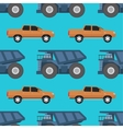 Cargo truck seamless pattern vector image