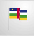 Central african republic waving flag design