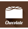 chocolate design vector image vector image