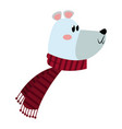 christmas bear with scarf celebration vector image vector image