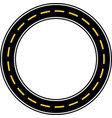 circle race circuit vector image vector image