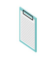 clipboard report archive medical healthcare vector image