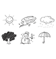 Different kinds of weather vector image vector image