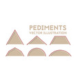 different types of pediments vector image