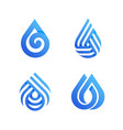 drops elegant icons or logo templates set vector image vector image