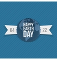 Earth Day paper Banner with Ribbon vector image