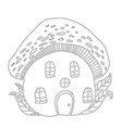 fairytale house mushroom amanita children s vector image vector image