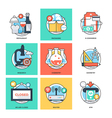 Flat Color Line Design Concepts Icons 31 vector image vector image