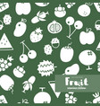 fruit icon seamless pattern vector image