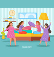 girls friendship orthogonal composition vector image