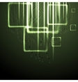 Green shiny technology background vector image vector image
