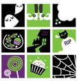 halloween square icons vector image