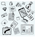 Hand drawn of business doodles vector image vector image