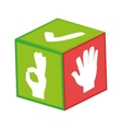 hand sign language icon vector image