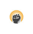 hand strong icon vector image