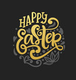 happy easter banner greeting card background vector image vector image