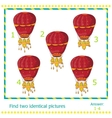 hot air balloons - game for children vector image